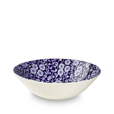 Blue Calico Cereal Bowl 6.25