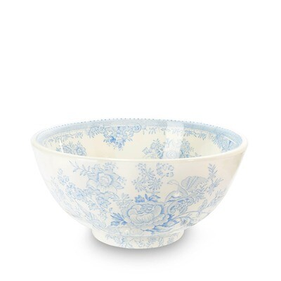 "Blue Asiatic Pheasants Chinese Bowl - Medium 8"""