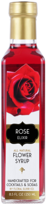 Rose Elixir All Natural Cocktail & Soda Syrup