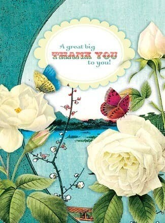 A Great Big Thank You to You! White Roses Card