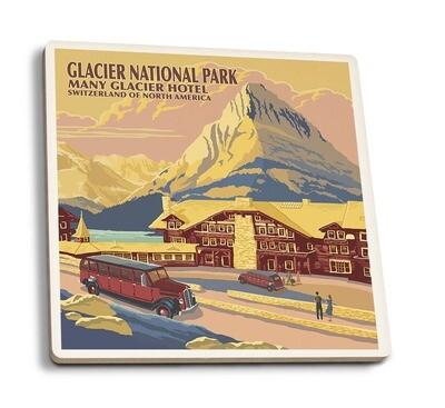 Glacier NP Coaster - Many Glacier Hotel Montana