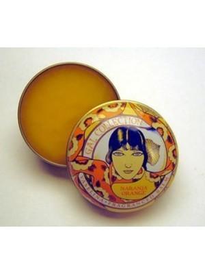 Imported Fancy Art Nouveau Tin Lip Balm Orange