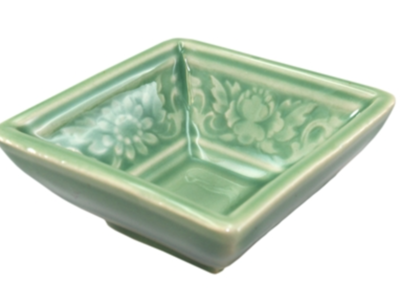 Green Square floral Tea Cup Small