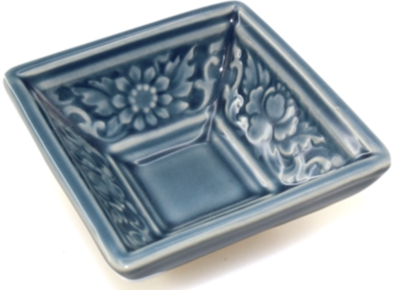 Blue Square floral Tea Cup Small