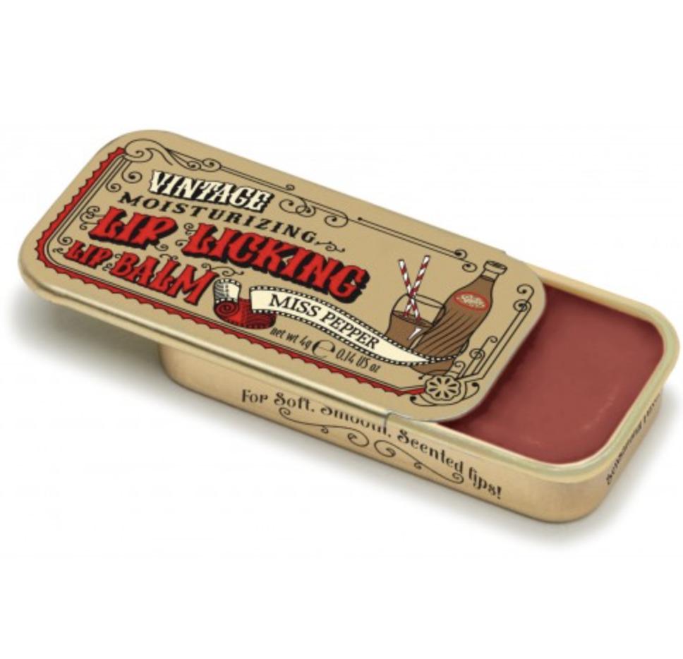 Miss Pepper Retro Sliding Lip Tin just like in the 80's !