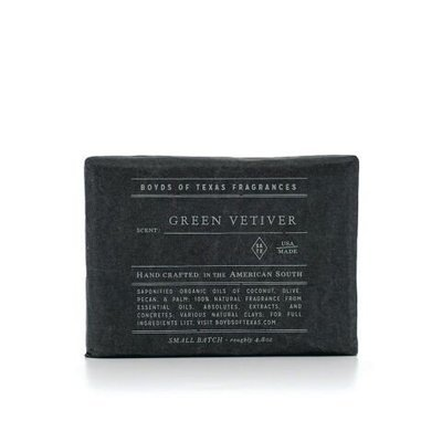 Boyd's of Texas - Green Vetiver - Charcoal Bar Soap