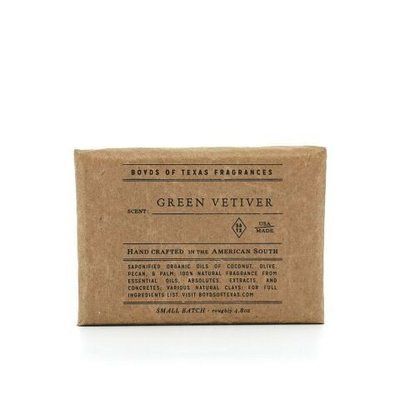 Boyd's of Texas - Green Vetiver - Natural Bar Soap