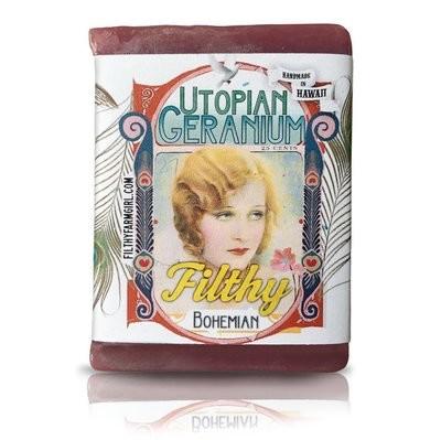 Filthy Bohemian Utopian Geranium Handmade Soap