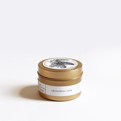 Brooklyn Candle Studio - Christmas Tree Gold Travel Candle