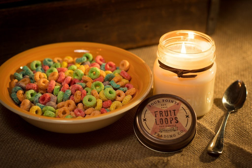 Four Points Trading Co  - Fruit Loops 8 oz Soy Candle