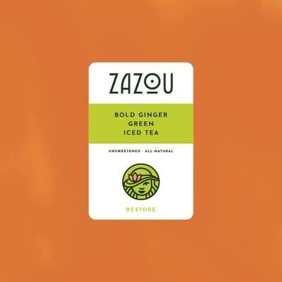 Zazou Iced Tea- Bold Ginger Green Tea