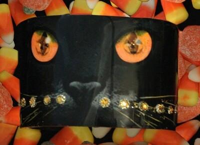 Halloween Cat Cuff Wide
