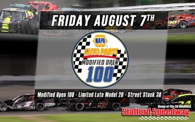 General Admission Ticket - NAPA Open Modified 100 - Friday, August 7th