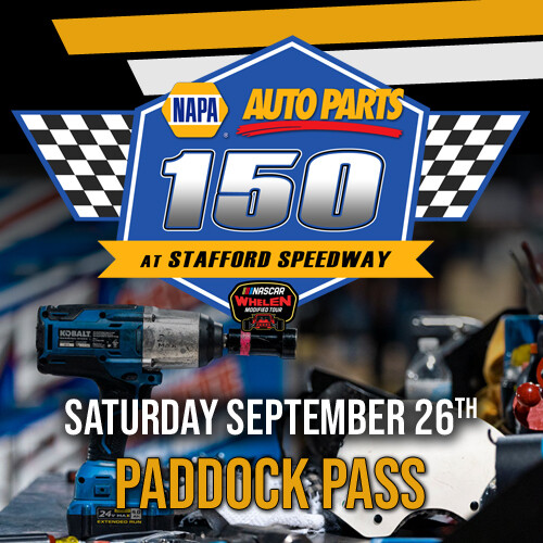 Saturday, September 26th - Whelen Modified Tour Paddock Pass