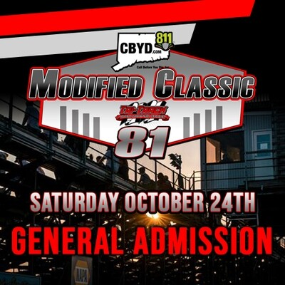 Saturday, October 24th - CBYD Modified Classic - General Admission Tickets