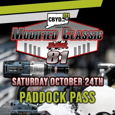 Saturday, October 24th - CBYD Modified Classic Paddock Pass