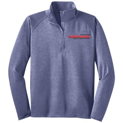 1/4 Zip Pullover - Heather Navy