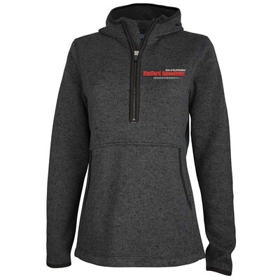 1/4 Zip Fleece Hoody - Heather Charcoal