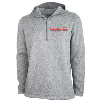 Pre-Order: 1/4 Zip Fleece Hoody - Charcoal Gray Heather