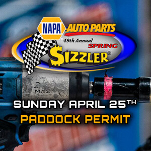 Paddock Pass - Sunday, April 25th - NAPA Spring Sizzler