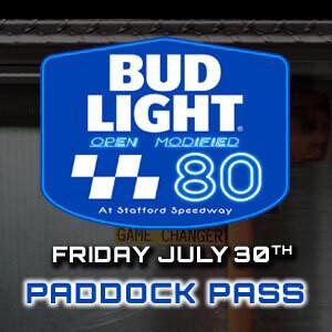 Paddock Pass - Bud Light Open 80 - Friday, July 30th