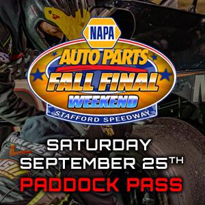 Paddock Pass - NAPA Auto Parts Fall Final - Saturday, September 25th