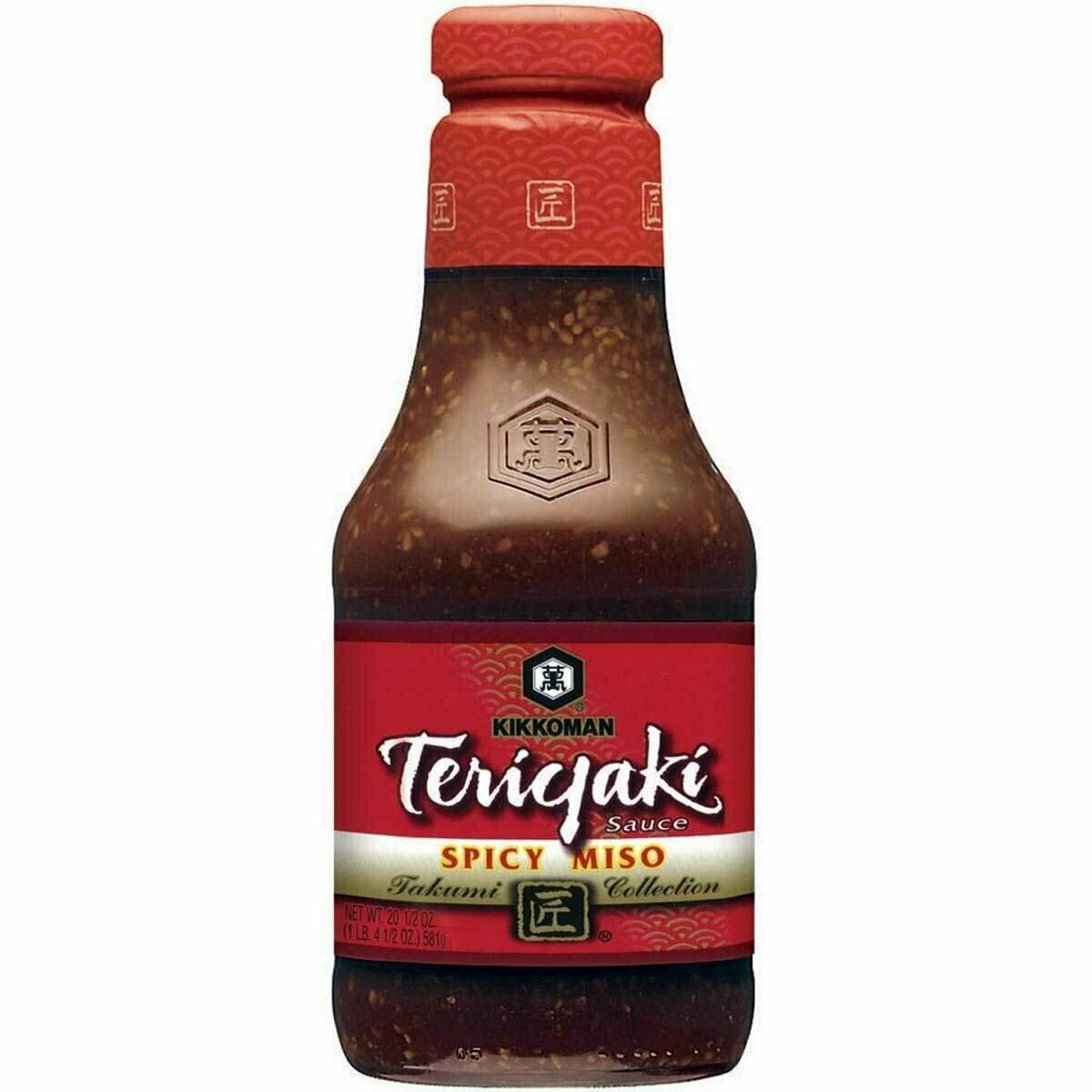 Kikkoman Teriyaki Sauce Spicy Miso (20.5 Fl. Oz)