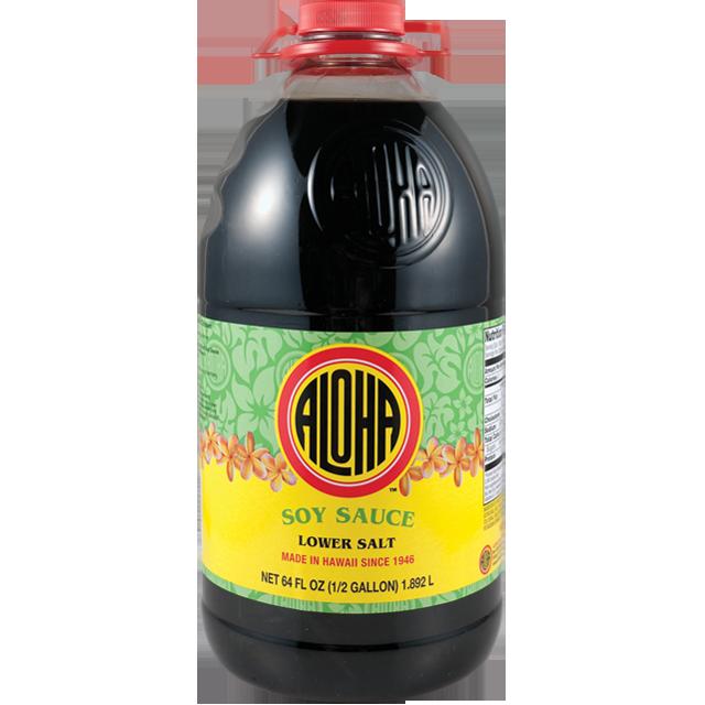 Aloha Soy Sauce Lower Salt  (64 Fl. Oz)