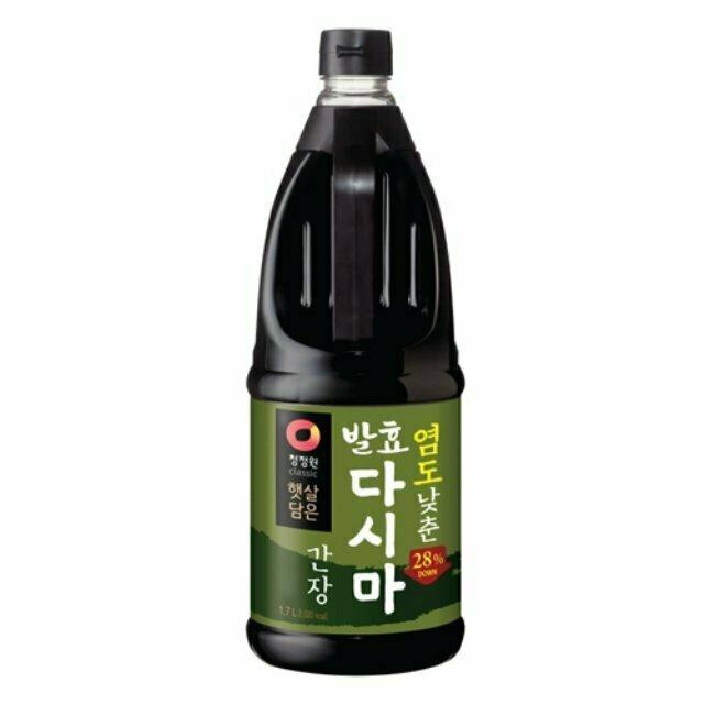 ChungJungOne Less Sodium Seatangle Soy Sauce (57.4 Fl. Oz)