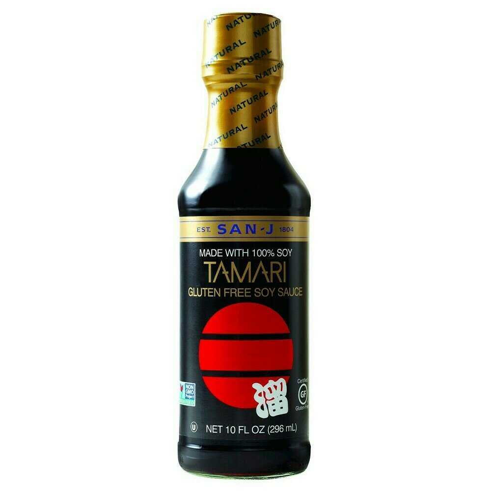 San-J Made with 100% Soy Tamari Gluten Free Soy Sauce  (10 Fl. Oz)