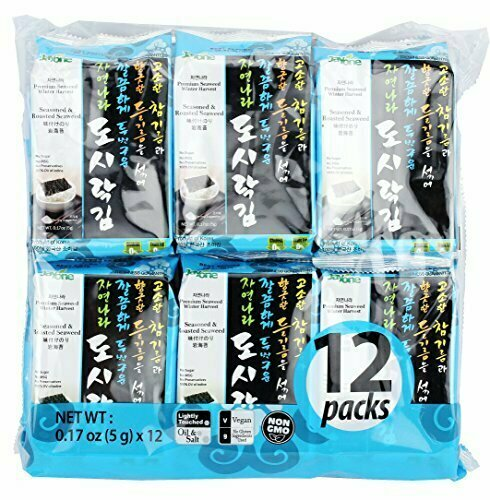 Jayone Seasoned & Roasted Seaweed 12 Packs (0.17 Oz * 12)