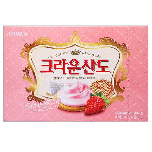 Crown Sando Strawberry Cream Cheese Biscuit (11.39 Oz)