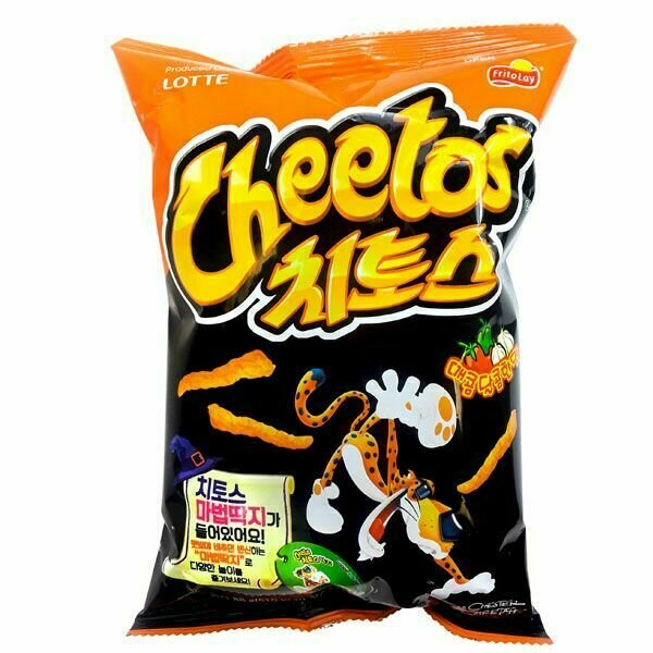 Lotte Cheetos Hot & Sweet Flavor (3.1 Oz)