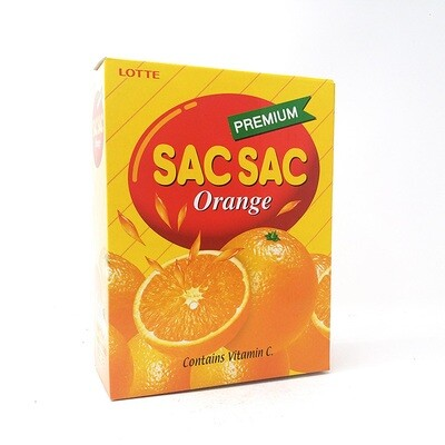 Lotte Sac Sac Orange 12 Cans (8.05 Fl. Oz* 12)