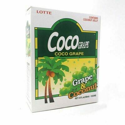Lotte Coco Grape Juice 12 Cans (8 Fl. Oz * 12)
