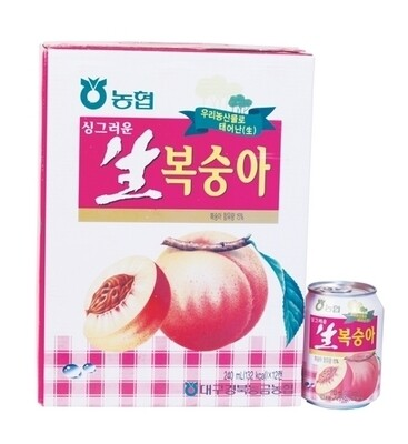 NH Peach Drink with Pulp 12 Cans (8.1 Oz * 12 )