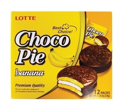 Lotte Choco Pie Banana (11.85 Oz)