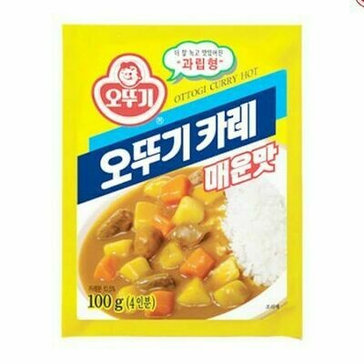Ottogi Curry Powder Hot (3.52 Oz)