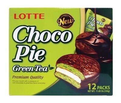 Lotte Choco Pie Green Tea (11.85 Oz)