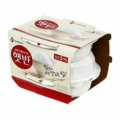 CJ Cooked White Rice 3 Packs (22.2 Oz)