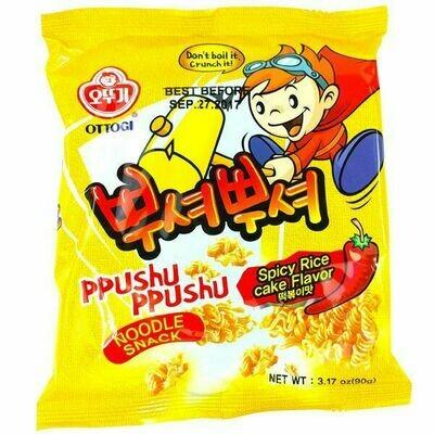 Ottogi Ppushu Ppushu Spicy Rice Cake Flavor (3.17 Oz)