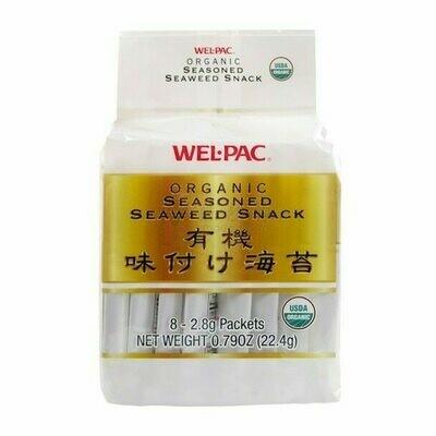 WEL.PAC Organic Seasoned Seaweed Snack 8 Packs (0.79 Oz)