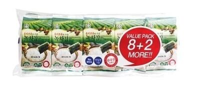 Assi Roasted & Seasoned Laver 10 Packs (0.17 Oz * 10)