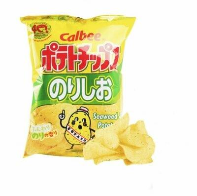 Calbee Potato Chips Seaweed & Salt  (2.8 Oz)