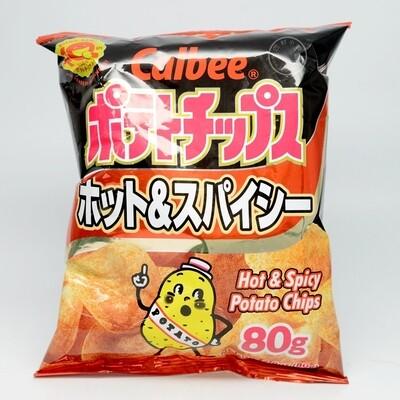 Calbee Potato Chips Hot & Spicy (2.8 Oz)