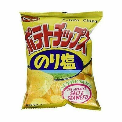 Koikeya Potato Chips Norishio Seaweed and Salt (2.01 Oz)