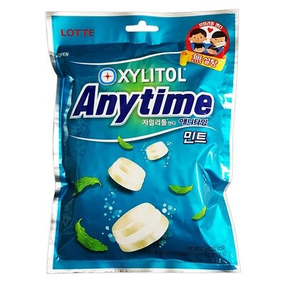 Lotte Xylitol Anytime Mint (3.24 Oz)