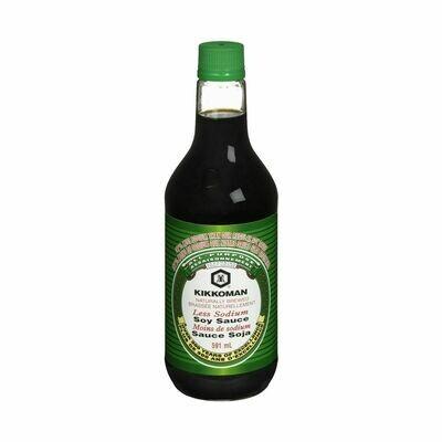 Kikkoman 37% Less Sodium Soy Sauce (20 Fl. Oz)