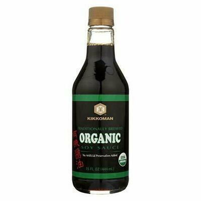 Kikkoman Traditionally Brewed Organic Soy Sauce (15 Fl. Oz)