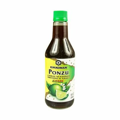 Kikkoman Ponzu Lime Seasoned Dressing & Sauce (15 Fl. Oz)
